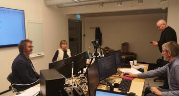 Bilde av Per Tronsaune, Monica Vandbakk, Christian Kjeldstad og Thor Jonny Eriksen